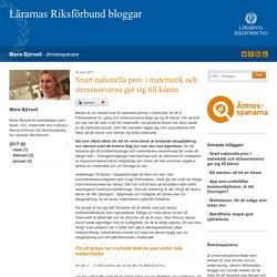 Snart nationella prov i matematik och stressnerverna ger sig till känna - Maria Björsell