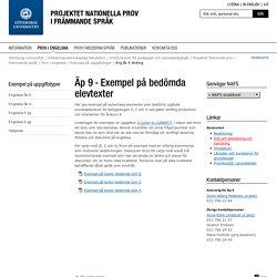 Eng åk 9 Writing - Nationella prov i främmande språk, Göteborgs universitet