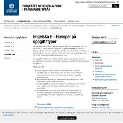 Engelska 6 - Nationella prov i främmande språk, Göteborgs universitet