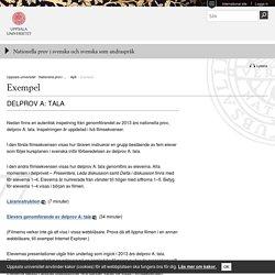 Exempel - Nationella prov i svenska och svenska som andraspråk - Uppsala universitet