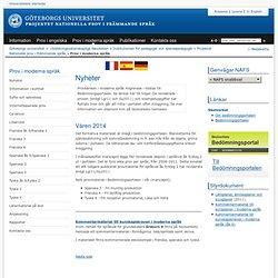 Prov i moderna språk - Nationella prov i främmande språk, Göteborgs universitet