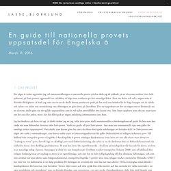 En guide till nationella provets uppsatsdel för Engelska 6 — LASSE_BJORKLUND