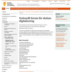Nationellt forum för digitalisering av skolan