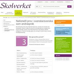 Nationellt prov i svenska/svenska som andraspråk i årskurs 3