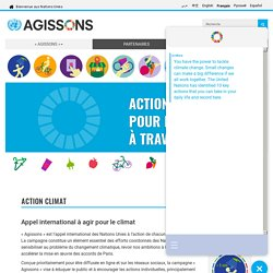 Nations Unies - Campagne ActNow Action climat