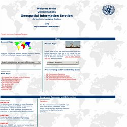 United Nations Cartographic Section Web Site