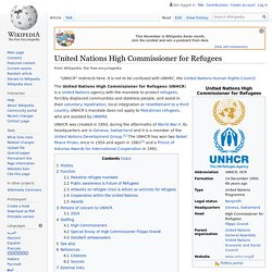 United Nations High Commissioner for Refugees