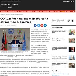 COP22: Four nations map course to carbon-free economies - Times of India