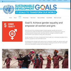 United Nations: Gender equality and women's empowerment
