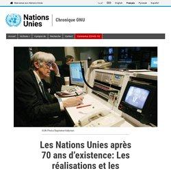 Les Nations Unies après 70 ans d'existence: Les réalisations et les échecs