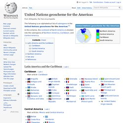 United Nations geoscheme for the Americas
