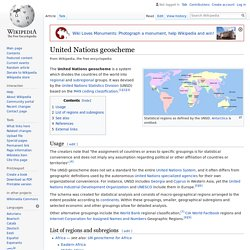 United Nations geoscheme