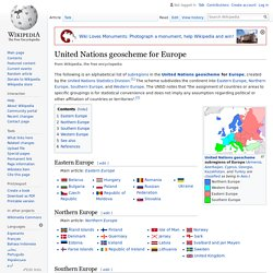 United Nations geoscheme for Europe