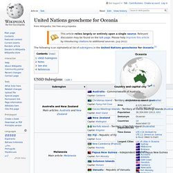 United Nations geoscheme for Oceania