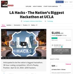 LA Hacks - The Nations Biggest Hackathon at UCLA