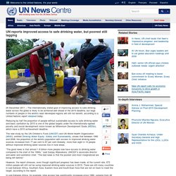 UN reports improved access to safe water