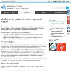 NATIONS Gender-inclusive language