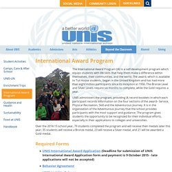 United Nations Intl School: International Award Program
