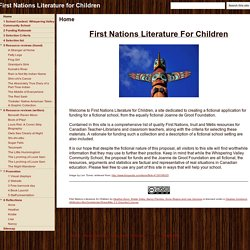 First Nations Literature for Children