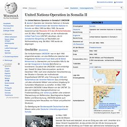 United Nations Operation in Somalia II