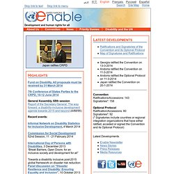 Enable - Work of the United Nations for Persons with Disabilities