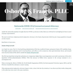 Nationwide COVID-19 & Coronavirus Lawsuit Attorneys