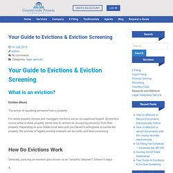 Nationwide eviction report services