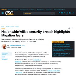 Nationwide/Allied security breach highlights litigation fears