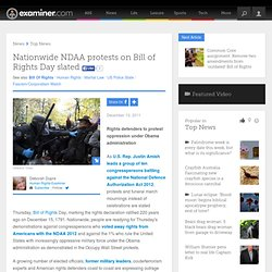 Nationwide NDAA protests on Bill of Rights Day slated - National Human Rights