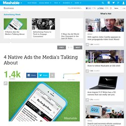 4 Native Ads the Media's Talking About