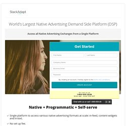 Native Advertising DSP