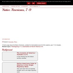 Native Americans, 7-9 WebEnglish.se
