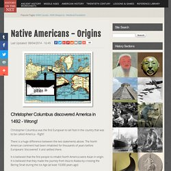 Native Americans - Origins