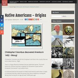 Native Americans - Origins