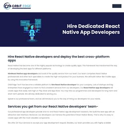 Hire React Native App Developers I Hire Dedicated React Native Developers
