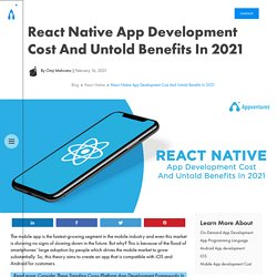 React Native App Development Cost And Untold Benefits In 2021