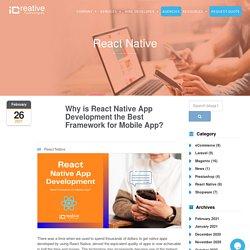 React Native App Development the Best Framework for Mobile App