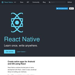 A framework for building native apps using React
