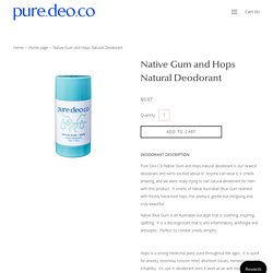 Native Gum and Hops Natural Deodorant