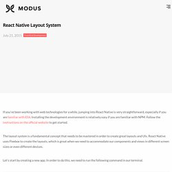 React Native Layout System - Modus Create