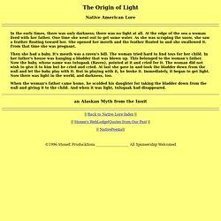 Native Lore: The Origin of Light