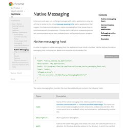 Native Messaging