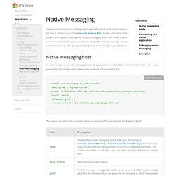 Native Messaging
