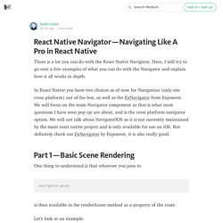 React Native Navigator — Navigating Like A Pro in React Native