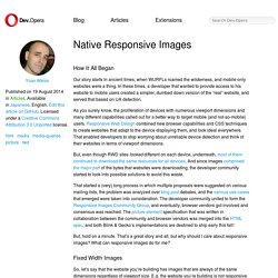 Native Responsive Images