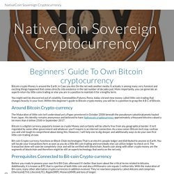 NativeCoin Sovereign Cryptocurrency