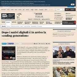 «coding generation» sul Sole24Ore