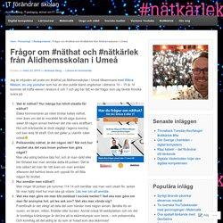 Frågor om #näthat och #nätkärlek från Ålidhemsskolan i Umeå