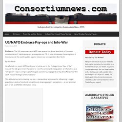 US/NATO Embrace Psy-ops and Info-War