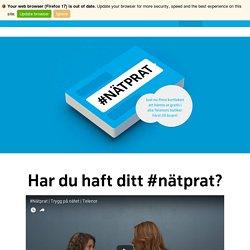 #Nätprat - Trygg på nätet
